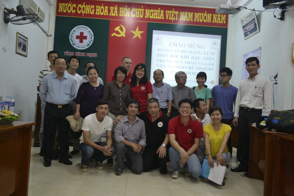 Group working at the Red Cross in Binh Dinh province