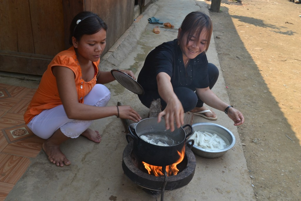 Use of firewood-saving stoves - women reduce their labor power